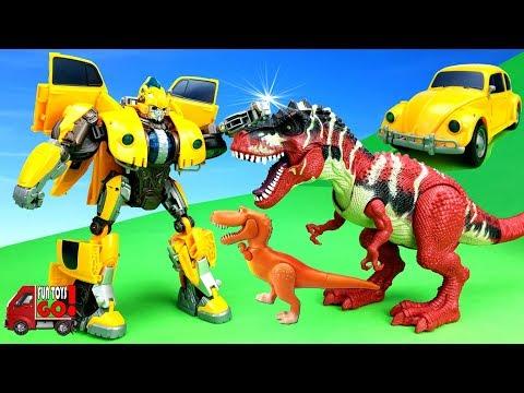 Transformers Prime Avtobot -Bumblebee / transformers 6/ against dinosaurs