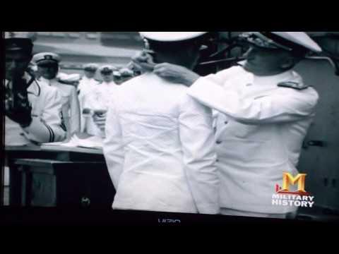 John Finn Medal of honor recipient, Pearl Harbor, awarded the M O H on film