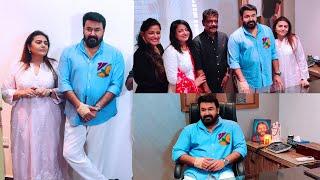 ലാലേട്ടനും ഭാര്യയും തിളങ്ങി ആശിർവാദ്  സിനിമാസ്  ഓഫീസ് ഉൽഘാടനം | Aashirvad Cinemas Office Opening