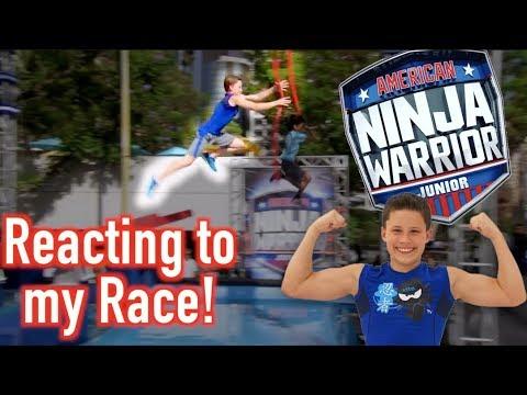Bryton Myler Reacts To Races On American Ninja Warrior JR