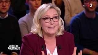 Le duel Nathalie Loiseau Marine Le Pen France 2 14 03 2019 élection européenne