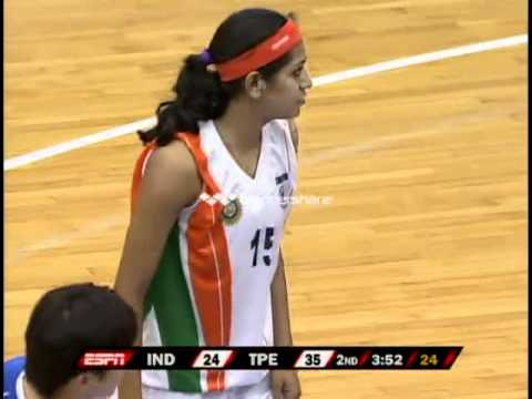 India vs. Chinese Taipei (Women's Basketball) Part 3 - 2011 William Jones Cup