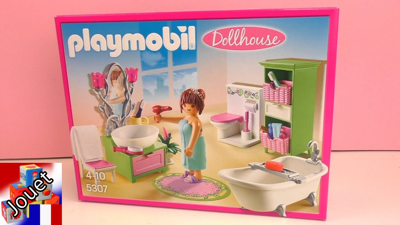 Bain playmobil playmobil dollhouse bain romantique 5307 for Salle bain playmobil