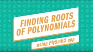 Finding Roots of Polynomials with the TI-84 Plus CE graphing calculator using the PLySmlt app