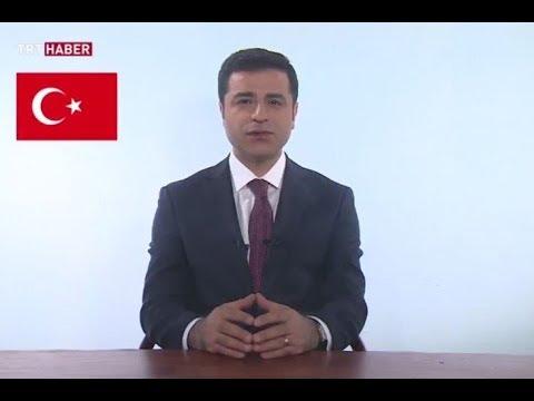 Selahattin Demirtaş TRT Haber'de propaganda konuşması yapıyor  (Canlı Yayın) - 23 Haziran 2018