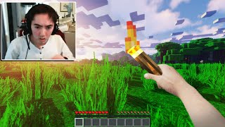 I used a REALISTIC Minecraft mod to troll this Streamer...