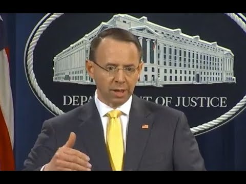 "BREAKING: Rod Rosenstein at Indictment Press Briefing: ""Operation DID NOT Change Election Outcome"""