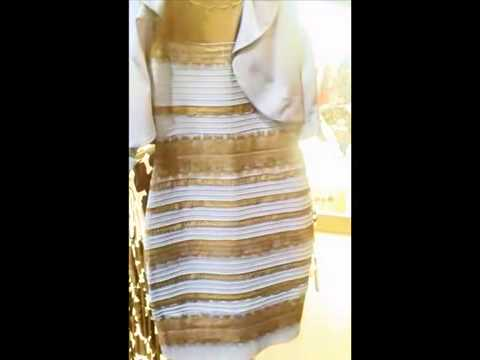 white gold and blue black dress finally explained - YouTube
