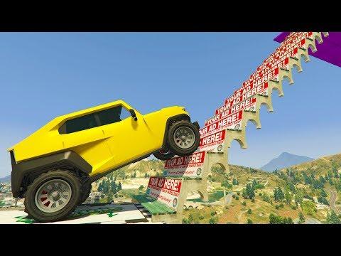 MEGA RAMPA IMPOSIBLE! - CARRERA GTA V ONLINE - GTA 5 ONLINE