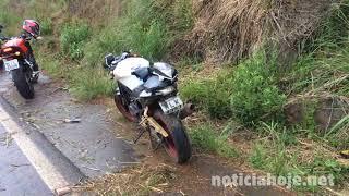 Motociclista sofre fratura na perna em acidente na SC 350