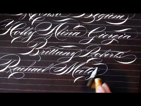 Writing names in Calligraphy 3