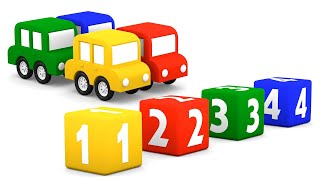 #МАШИНКИ все серии подряд! Мультики про 4 машинки. Учим цифры с #4машинки