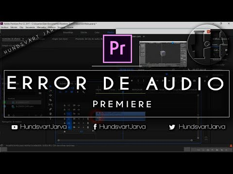 ERROR AUDIO PREMIERE PRO | SOLUTION  @HundsvartJarva