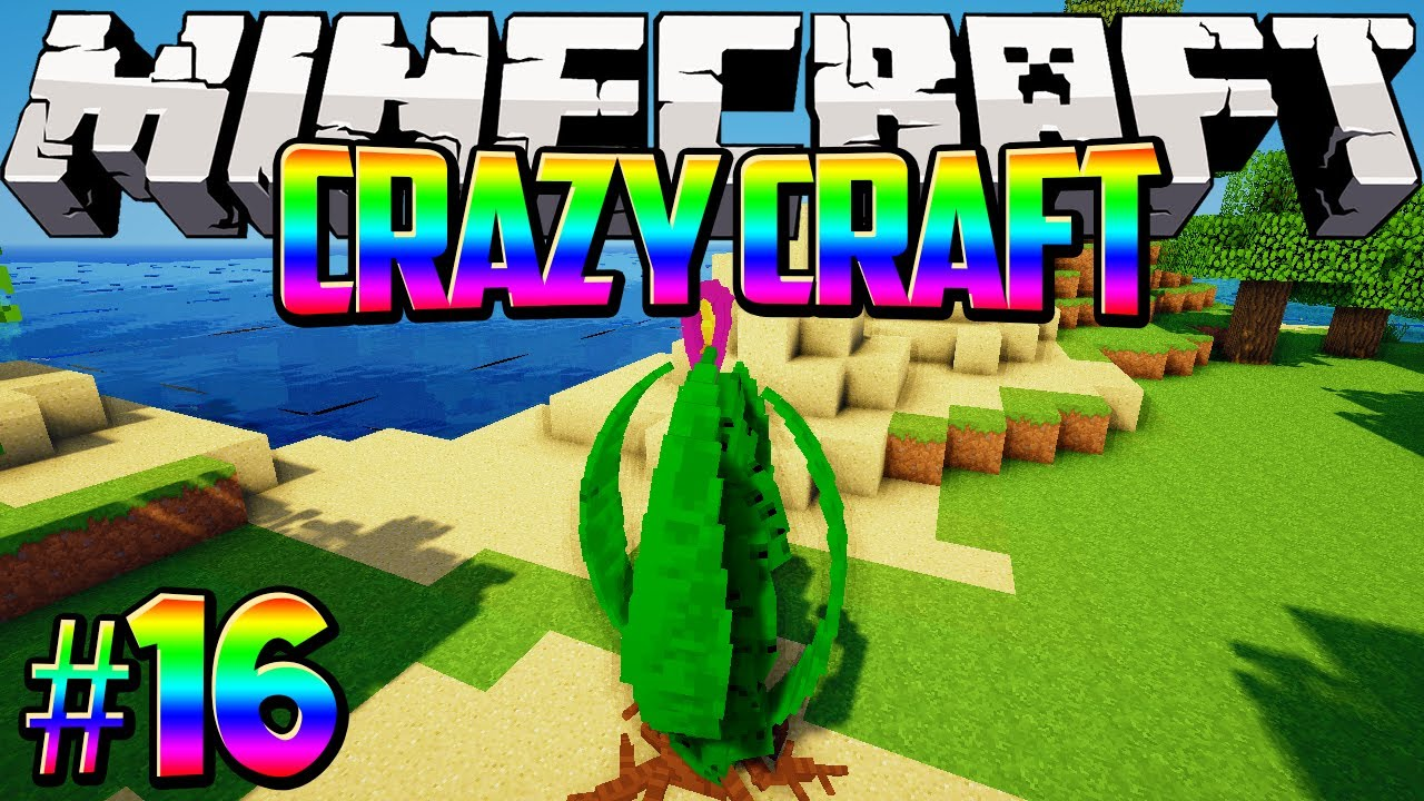 crazy craft free quot green goo from the triffid quot craft minecraft modded 1788