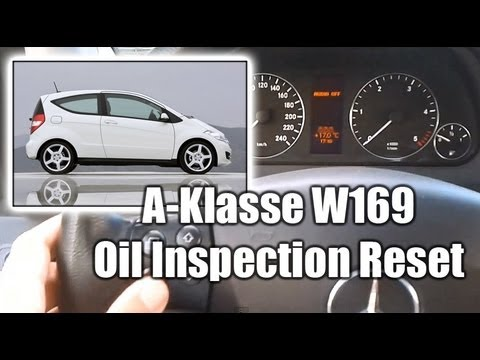 mercedes a klasse w169 oil inspection reset kasowanie. Black Bedroom Furniture Sets. Home Design Ideas