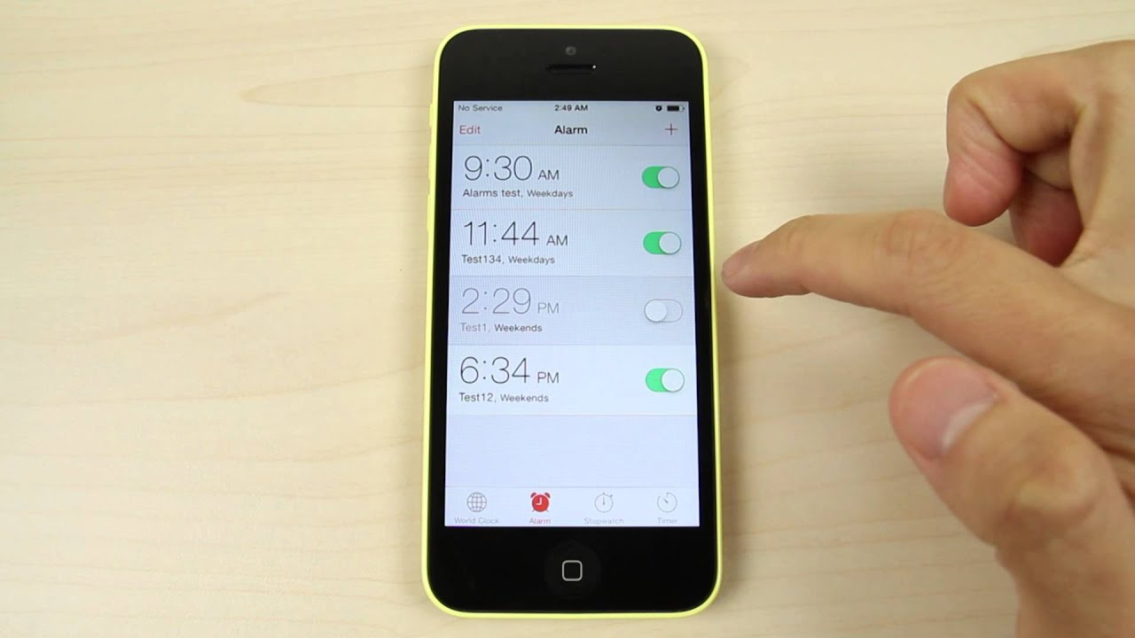 how to set alarm on iphone 6 how to set the alarm on apple iphone 5c 20307