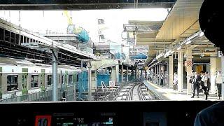 JR渋谷駅 埼京線新ホーム移設工事完了!相鉄12000系からの前面展望と駅ホームの様子