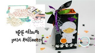 Tutorial mini album para halloween... Zona Scrapera