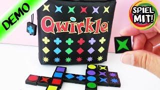 Quirkle Travel | Familienspiel für die Reise | Tolles Spiel für die ganze Familie