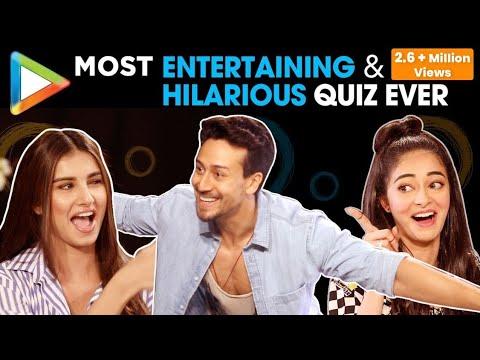 ROFL: Tiger Shroff, Ananya Pandey & Tara Sutaria's FUNNIEST Quiz Ever | SOTY 2