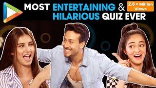 ROFL Tiger Shroff Ananya Pandey & Tara Sutaria s FUNNIEST Quiz Ever SOTY 2