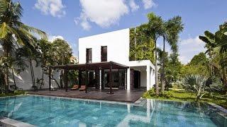 Contemporary House Design - Beautiful Villa With Vertical Garden Wall