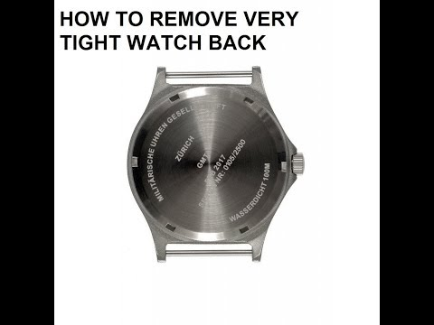How To Open A Water Resistant Very Tight Watch Back Case Quick And Easy!