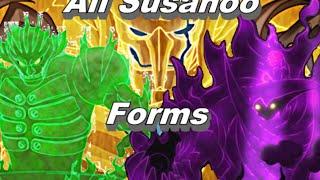 All Susanoo Forms - Itachi, Shisui, Indra, Madara & Sasuke