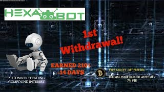1st Withdrawal Hexabot   HYIP  2x Money in 14days!