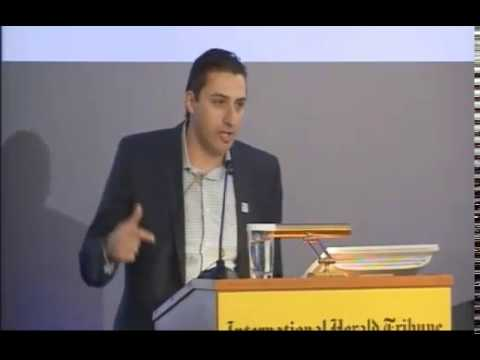 Manos Sifakis at the 2012 International Herald Tribune conference in Athens, Greece
