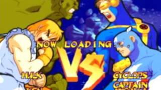 marvel super heroes vs street fighter ps1