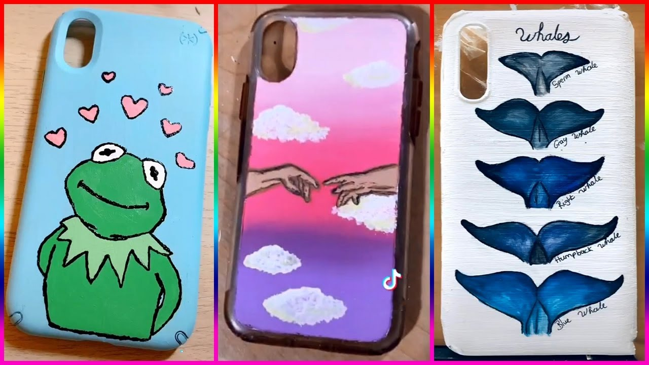Best Tiktok Painting On Phone Cases Compilation 20 Youtube