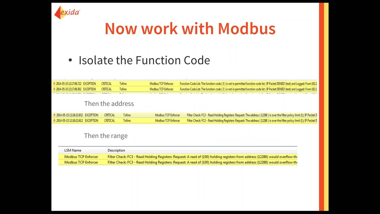 Deep Packet Inspection for ICS Devices: Modbus/TCP Deep Packet Inspection