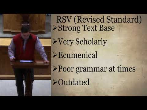 Bible Evaluations Part 2 (ASV, RSV, NRSV)