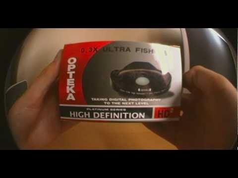 Opteka 0.3x HD Ultra Fisheye Adapter Unboxing - 37mm