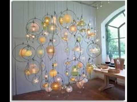 Como hacer una LAMPARA CON MATERIAL RECICLADO 11  YouTube
