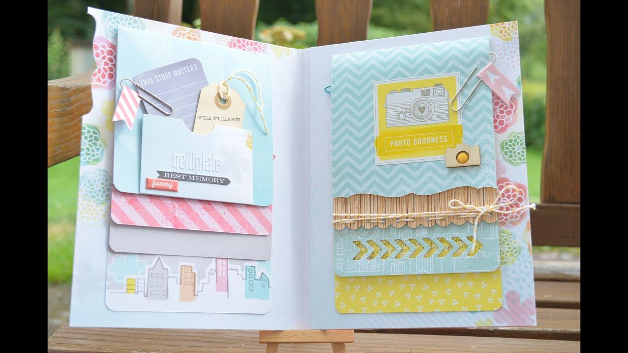How to scrapbook a mini album - Scrapbook Folder Mini Album Basteln Mit Papier Deutsch