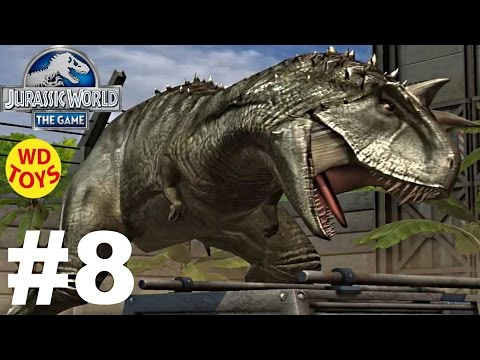 Jurassic World - The Game Dinosaurs Ludia  Carnotaurus Episode 8  HD - WD Toys