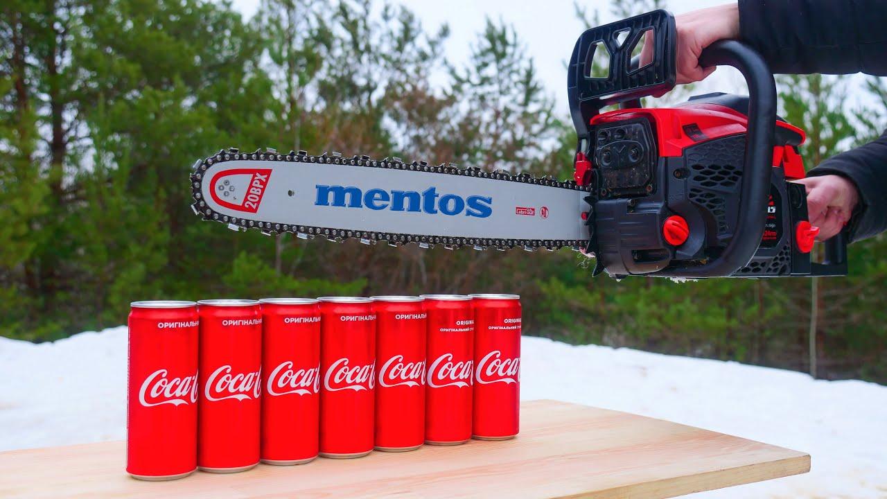 Experiment: Chainsaw vs Coca Cola