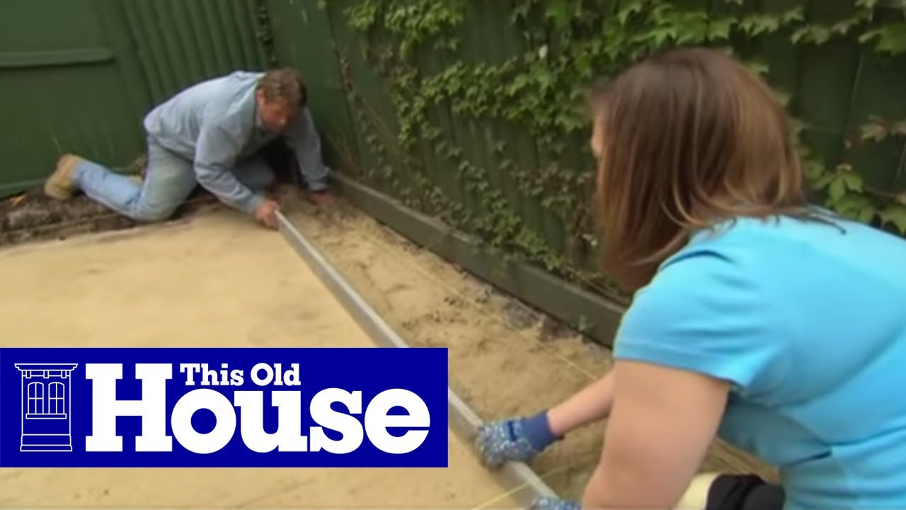 how to build a brick patio this old house