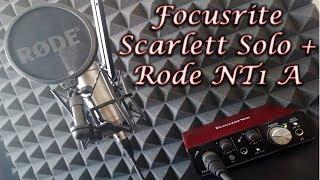 Аудиоинтерфейс Focusrite Scarlett Solo и Rode NT1 A