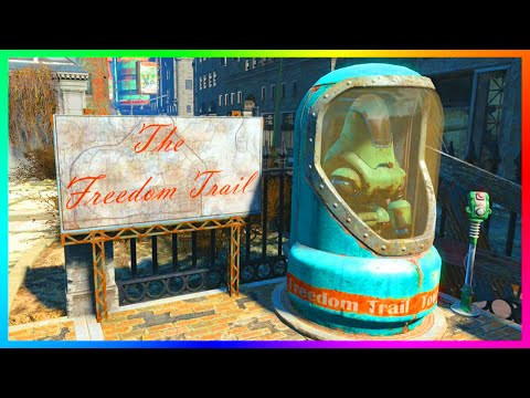 Fallout 4 - How To Find 'The Freedom Trail' Easter Egg! - Freedom Trail Railroad Location! (FO4)