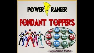 POWER RANGER DIY CUPCAKE TOPPER POWER RANGER FONDANT  TAGALOG VERSION