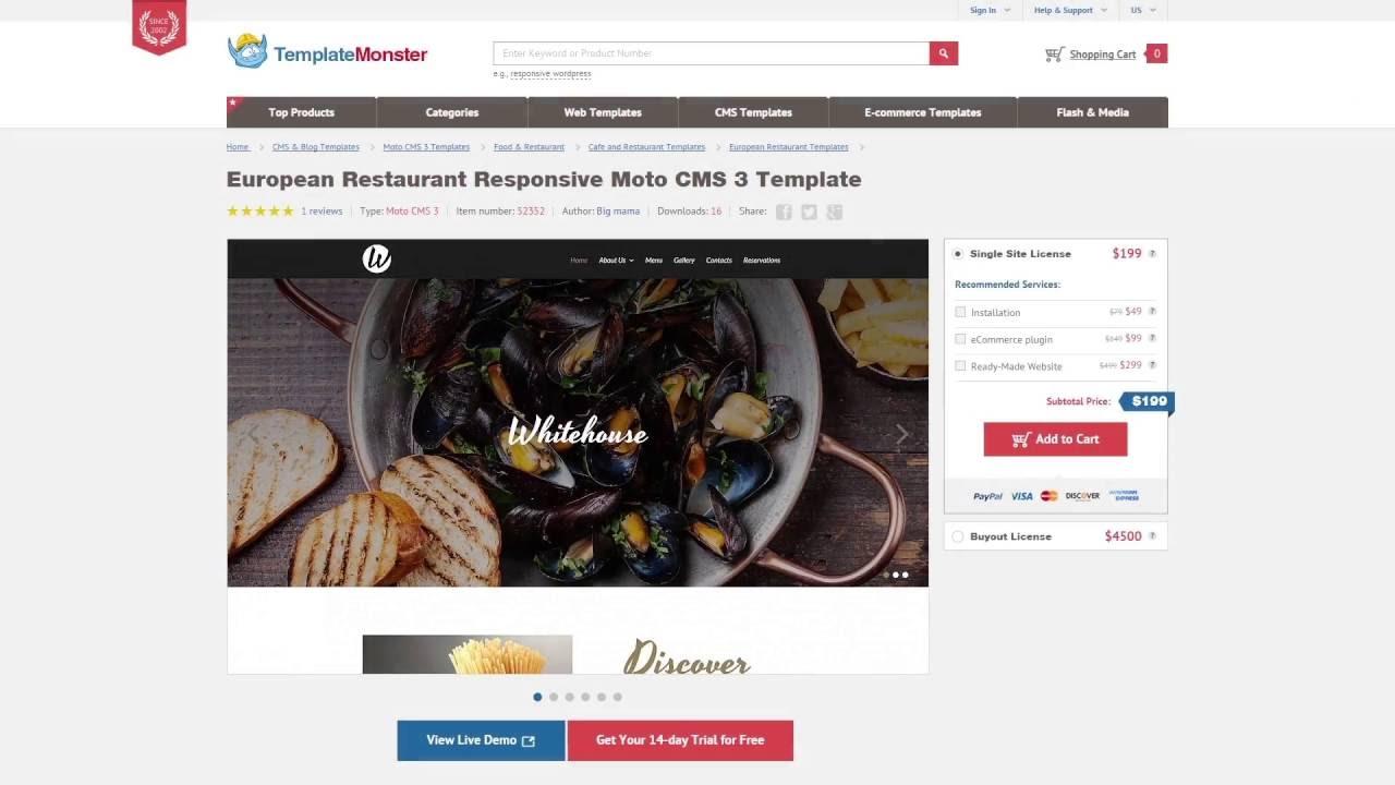 Engine Motocms 3 Business Web Template 52342 Youtube