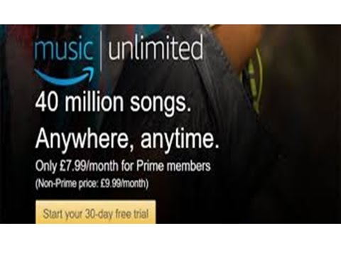 Amazon Music Unlimited 30 Day Free Trial