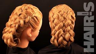 Как сделать прическу из трех французских кос – видеоурок (мастер-класс)