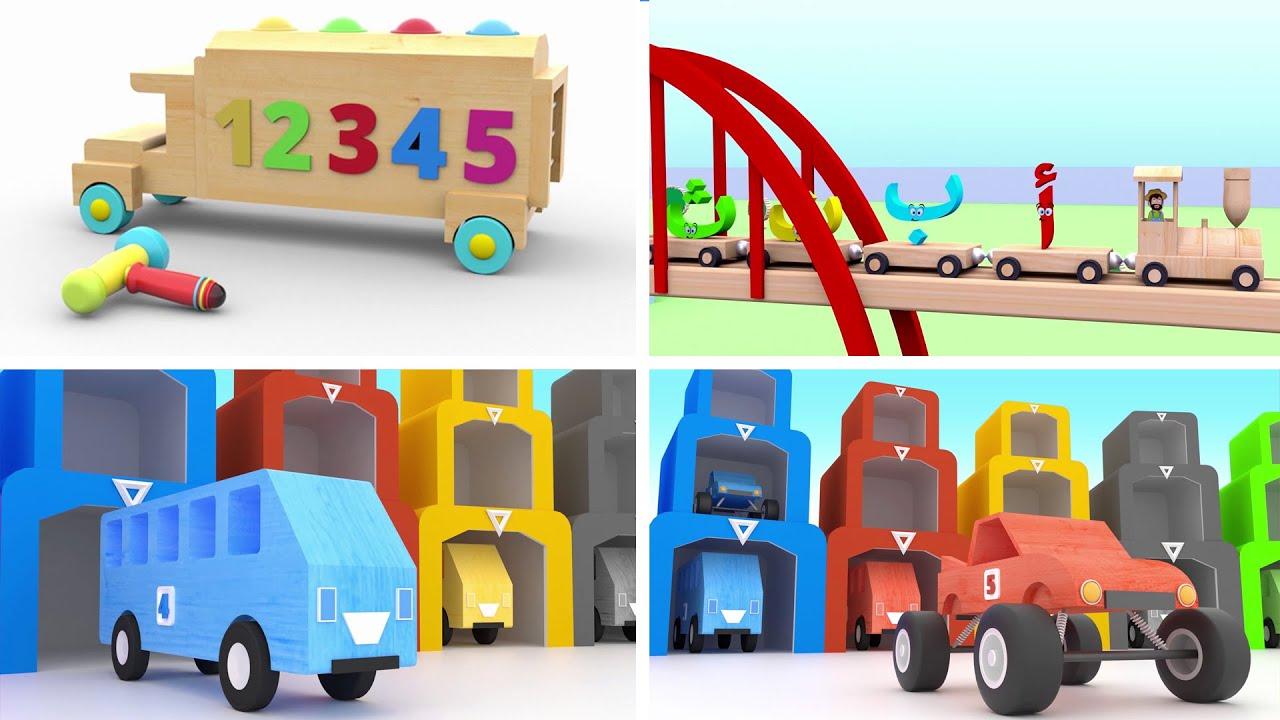 Learn Alphabet Colors and Numbers in arabic - تعليم الأطفال الحروف  الأرقام  والألوان باللغة العربية