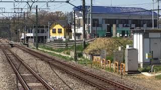 西武30000系38112F+32106F準急池袋行き秋津駅到着