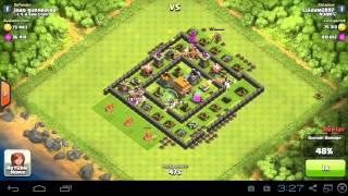 Clash of Clans Good loot Base , 180 barbarians attack