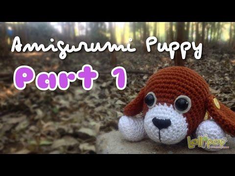 ถักตุ๊กตาโครเชต์น้องหมาน้ำตาลปึก Part 1-3/Brown Sugar Puppy Amigurumi Part 1/ English Subtitles